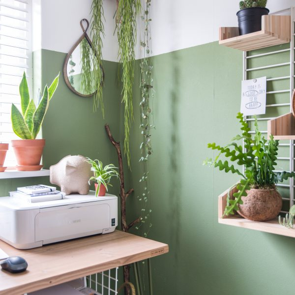 puik design tammy spaarpot moneysaver flexa color green interior homeoffice planten plants kokodama wonen